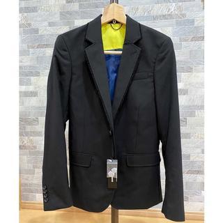 ディーゼル(DIESEL)のDIESEL テーラードジャケット リップストップ ブラック  S ディーゼル(テーラードジャケット)