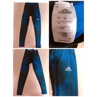 adidas - adidas メンズLサイズ タイツ紺色