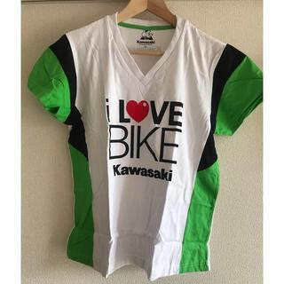 カワサキ(カワサキ)の【新品未使用】Kawasaki カワサキ レディースTシャツ(Tシャツ(半袖/袖なし))