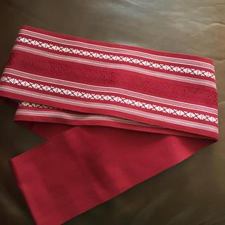 236)赤半幅帯(和装着物浴衣