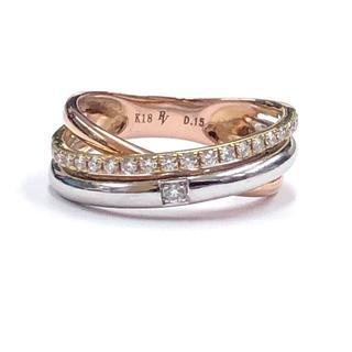 ポンテヴェキオ(PonteVecchio)の極美品 ポンテヴェキオ K18 ダイヤモンド リング 指輪(リング(指輪))