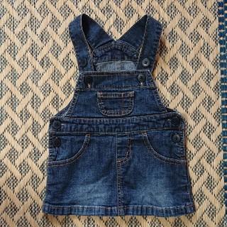 ムジルシリョウヒン(MUJI (無印良品))の無印良品 デニム地ジャンパースカート 80cm(スカート)
