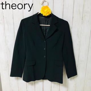 セオリー(theory)のセオリー ノーカラージャケット ブラック(ノーカラージャケット)