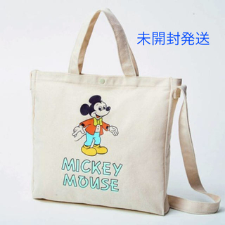 ミッキーマウス - 未開封 雑誌付録 フリークスストア特製 ミッキーマウス ショルダー付きトート