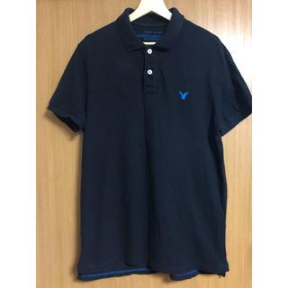 アメリカンイーグル(American Eagle)のAE アメリカンイーグル ポロシャツ Lサイズ ネイビー(ポロシャツ)