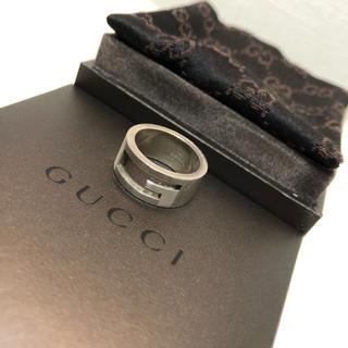 グッチ(Gucci)のグッチ(GUCCI)  シルバー925 GGロゴリング アウトGデザイン (リング(指輪))