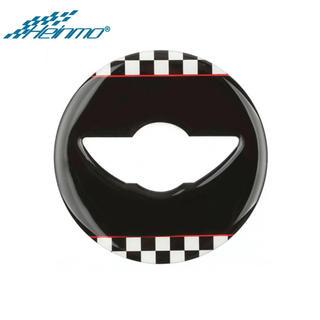 ビーエムダブリュー(BMW)のBMW mini R系ステアリングホイールパネルブラックチェッカー‼︎(車種別パーツ)