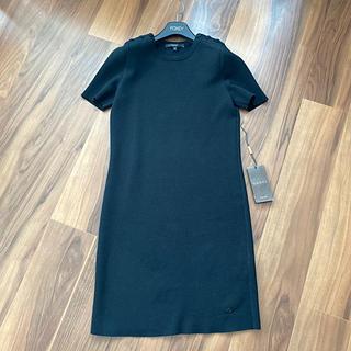 グッチ(Gucci)のGUCCI グッチ ワンピース ニット ブラック 黒 半袖 紙タグ付き 美品です(ひざ丈ワンピース)
