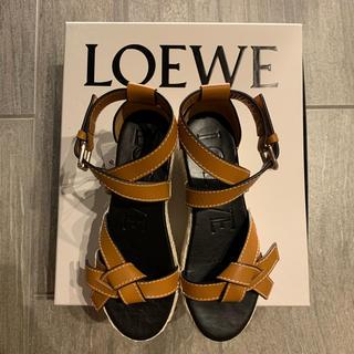 LOEWE - 【LOEWE】新品未使用 ゲートウェッジエスパドリーユ サンダル