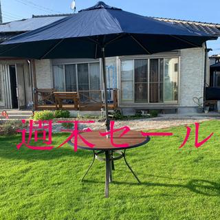 コストコ(コストコ)のコストコ proshade led ソーラーガーデンパラソル青(その他)