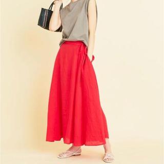 B&Y UNITED  ARROWS フレンチリネンアシンメトリーマキシスカート