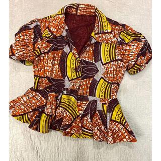 エディットフォールル(EDIT.FOR LULU)のvintage アフリカン パフスリーブ ブラウス(シャツ/ブラウス(半袖/袖なし))