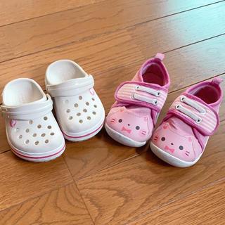 クロックス(crocs)の子供靴 女の子 クロックス スニーカー(サンダル)
