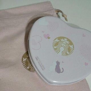 Starbucks Coffee - 韓国スターバックス★バレンタイン ラブリー ハート チョコレート缶ケース