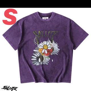 エポック(EPOCH)のSALUTE 2020SS FLOWER ANARCHY TEE パープル 紫(Tシャツ/カットソー(半袖/袖なし))