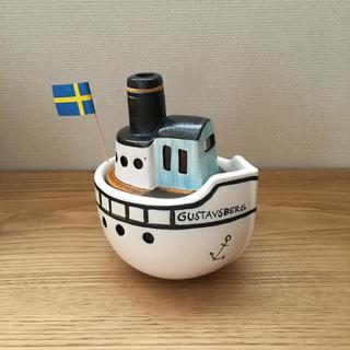 リサラーソン  船 蒸気船 ボート 置物
