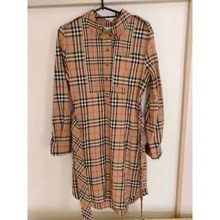 BURBERRY - 【Burberry】ヴィンテージチェック シャツワンピース S