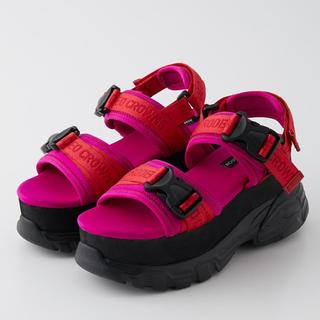 ロデオクラウンズワイドボウル(RODEO CROWNS WIDE BOWL)のRCWB✰Platform Sports Sandals(Lサイズ)(サンダル)