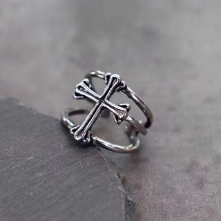 アルゴンキン(ALGONQUINS)のインポート ヴィンテージ   シルバー 925  十字架 リング(リング(指輪))