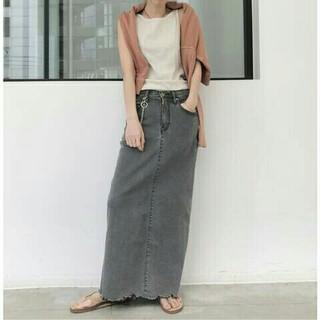 アパルトモンドゥーズィエムクラス(L'Appartement DEUXIEME CLASSE)のGOOD GRIEF DENIM LONG  スカート 38(ロングスカート)