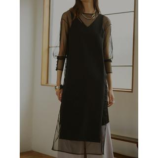 Ameri VINTAGE - 完売 AMERI TULLE DOCKING DRESS