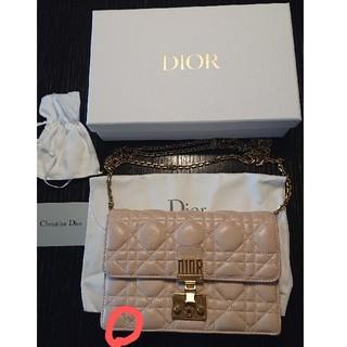 ディオール(Dior)のDior ピンク ウォレット ショルダー 財布 (ショルダーバッグ)