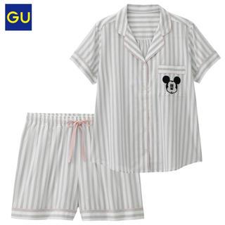 GU - GU パジャマストライプ半袖 ショートパンツ ディズニー