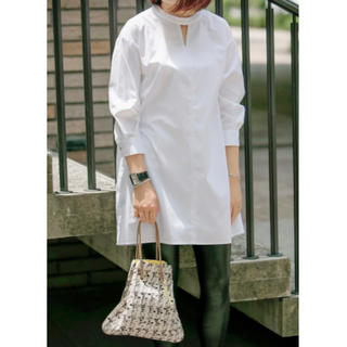 Drawer - シャルマントファム 七分袖UVカットシャツ