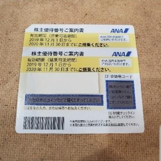 エーエヌエー(ゼンニッポンクウユ)(ANA(全日本空輸))のANA 株主優待券 11/30期限(航空券)