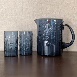イッタラ(iittala)のイッタラ フローラ ピッチャー&タンブラー セット 限定色 レイン(テーブル用品)
