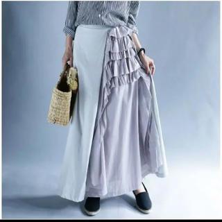 antiqua - 希少完売品 アンティカ 切りっぱなしフリルロングスカート