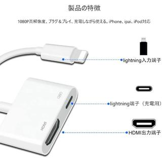 Lemorele iphone HDMI 変換 アダプター Lightning (PHS本体)