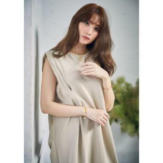 snidel - Her lip to Sleeveless Cotton Tee Dress