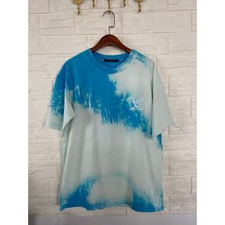 LOUIS VUITTON - 【Louis Vuitton】クラウドプリントTシャツ/ロゴ/ブルー