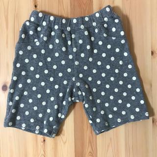 サンカンシオン(3can4on)のハーフパンツ ドット柄 グレー 100サイズ 半ズボン(パンツ/スパッツ)