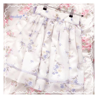ロディスポット(LODISPOTTO)の【美品】LODISPOTTO   花柄スカート ブルー(ミニスカート)