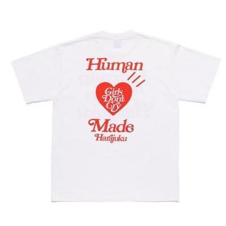 アベイシングエイプ(A BATHING APE)のhuman made girls don't cry tシャツ 原宿限定 XL(Tシャツ/カットソー(半袖/袖なし))