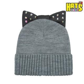 HATS-ON リボンニット帽 KIDS 8111(帽子)