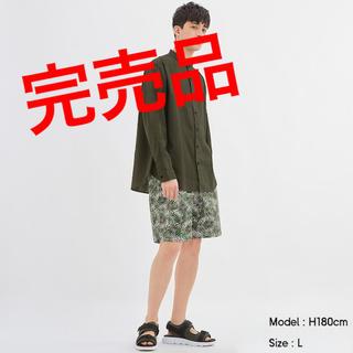 GU - シェフショーツ(ボタニカル)01 off White