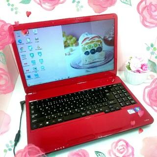 NEC - イチゴ色レッド♥NECのノートパソコン♥アプリもたくさん♥