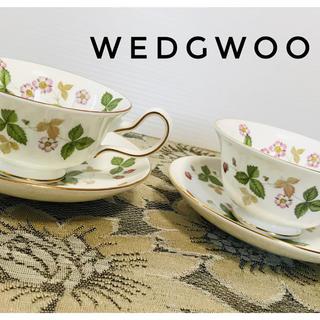 WEDGWOOD - ウェッジウッド ワイルドストロベリー ティーカップセット2脚