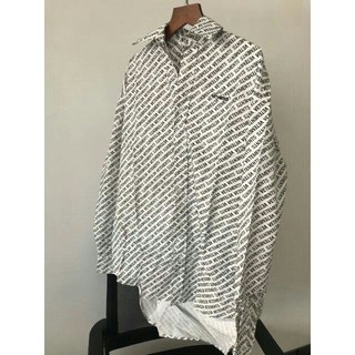 SUNSEA - VETEMENTS 18SS モノグラムオーバーサイズシャツ