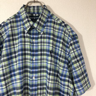 ラルフローレン(Ralph Lauren)のRalph Lauren チェック 半袖 シャツ BLAKE ボタンダウン 古着(シャツ)