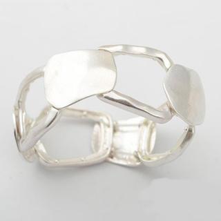 FREAK'S STORE - Wide matte silver bangle No.366