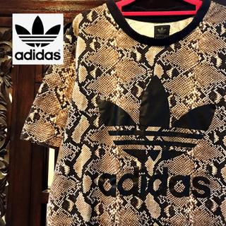 adidas - アディダス パイソン柄 タンクトップ Tシャツ ML へび柄 ヘビ柄 HYKE