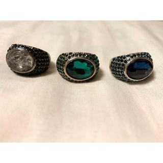 エイチアンドエム(H&M)のお値下げ【H&M】3種セット ストーンリング バラ売り不可(リング(指輪))