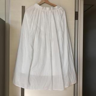 ナノユニバース(nano・universe)のロングスカート 白 ホワイト(ロングスカート)