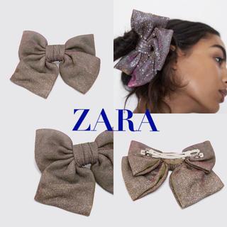 ZARA - ZARA リボン付きシャイニーヘアバンド(クリップ、バレッタ)