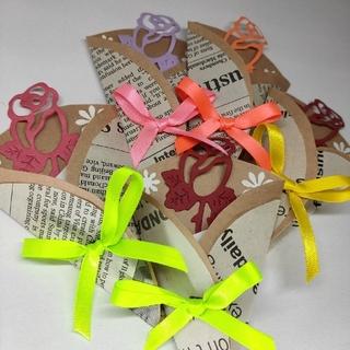 5点 世界に1つだけのハンドメイドメッセージカード 薔薇(カード/レター/ラッピング)