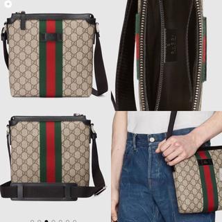 Gucci - GGスプリーム フラット メッセンジャーバッグ